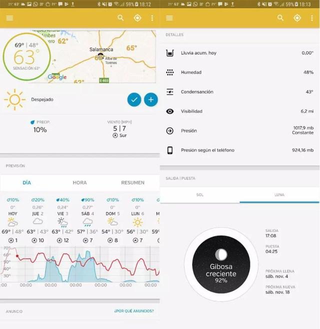 App del tiempo Weather Underground