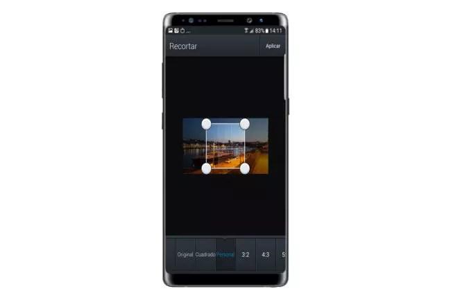 Recorte en Editor de Fotos para Android