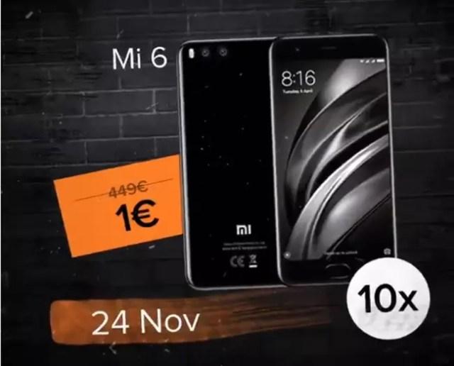 Xiaomi Mi 6 en oferta en el marco del Black Friday de Xiaomi