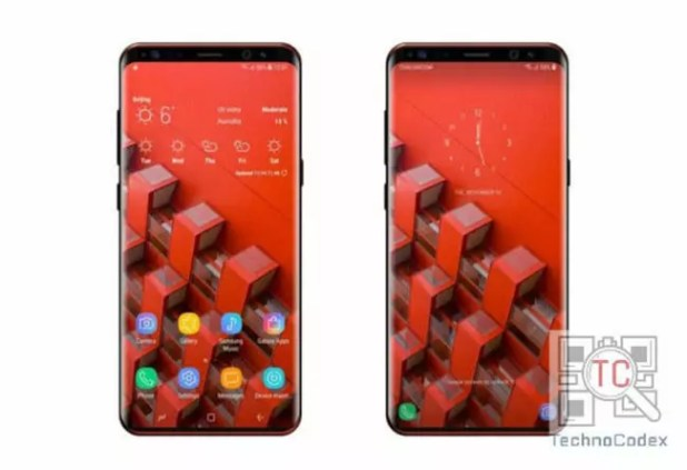 Posible aspecto de la pantalla del Samsung Galaxy S9 con menos marcos que en la del Galaxy S8