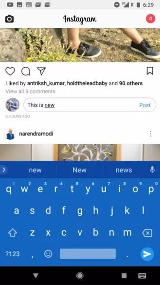 Nuevo método para comentar en Instagram