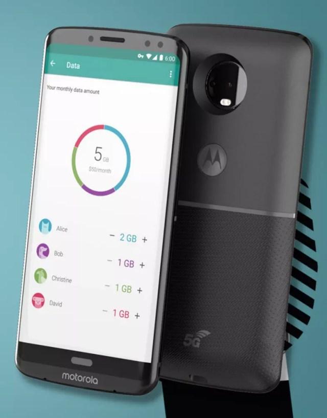 Motorola Moto Z3 con Moto Mod 5G
