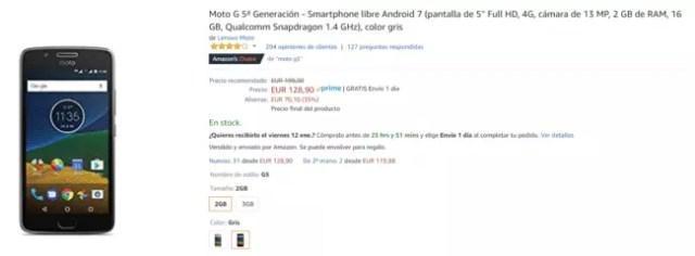Moto G5s Amazon