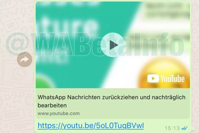 Opción de visualizar vídeos de YouTube desde WhatsApp
