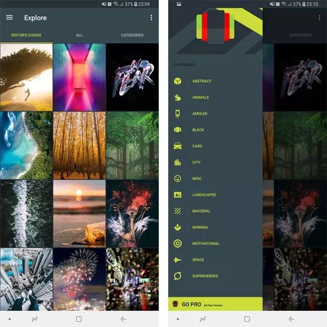 Wallpapers de la aplicación WallRoach