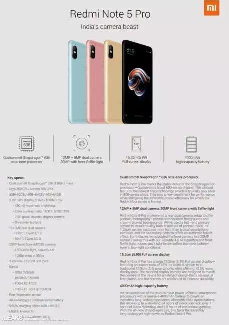Especificaciones Redmi Note 5 Pro
