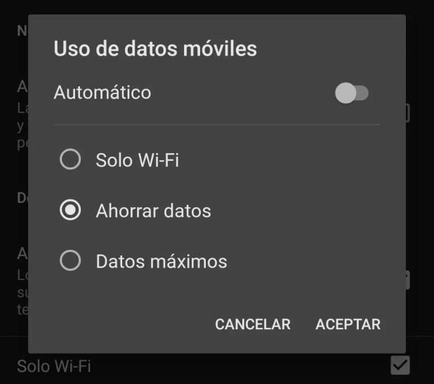 Ahorrar datos en Netflix
