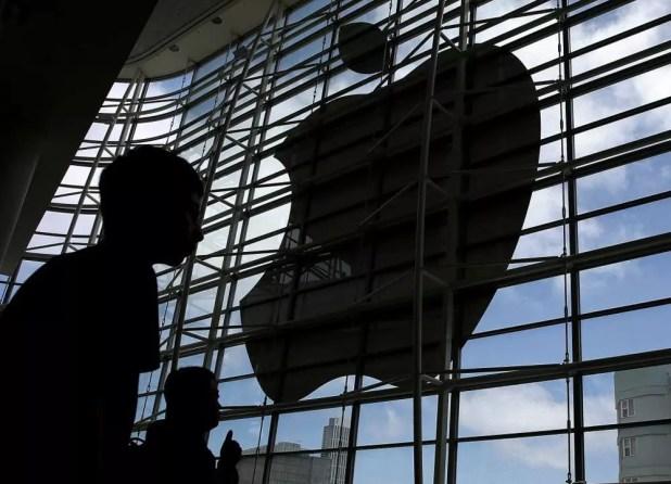 Logotipo de Apple a la sombra