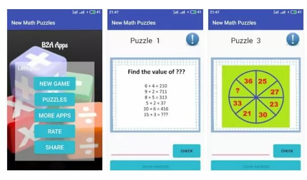 New Math Puzzles for Geniuses 2018