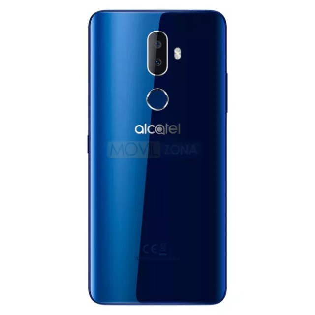 Alcatel 3V en color azul brillante