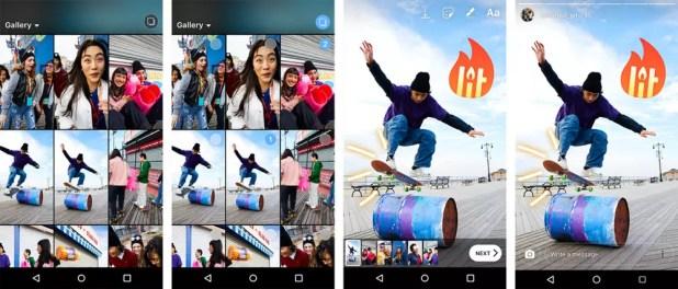 Subida múltiple de fotos y vídeos a las Historias de Instagram