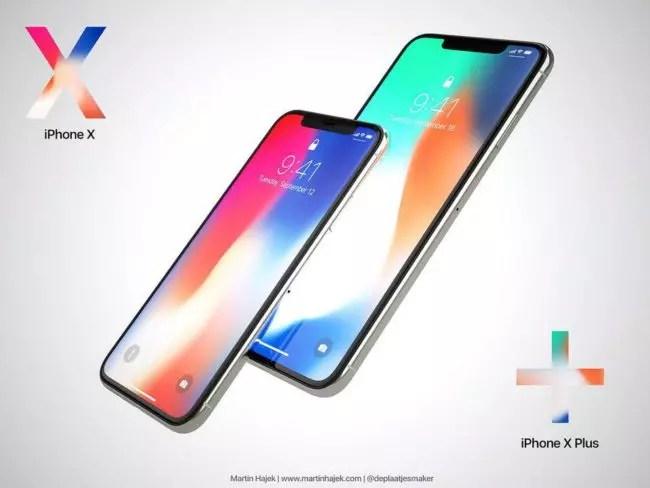 Posible diseño del iPhone X Plus