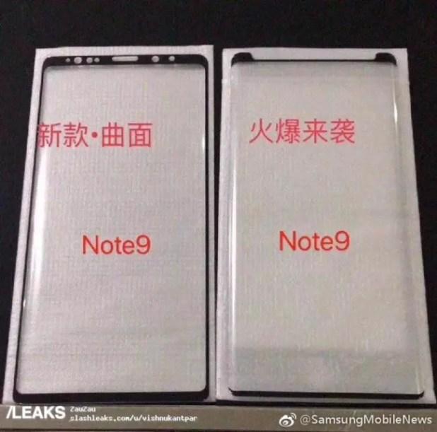 Samung Galaxy Note 9-pantalla
