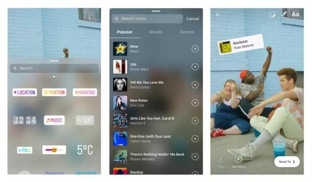 Nueva opción para añadir música a las Historias de Instagram