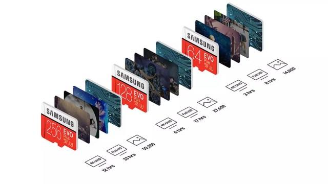 capacidades de tarjetas micro SD