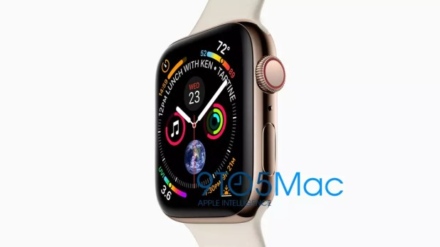 Imagen oficial del Apple Watch Series 4