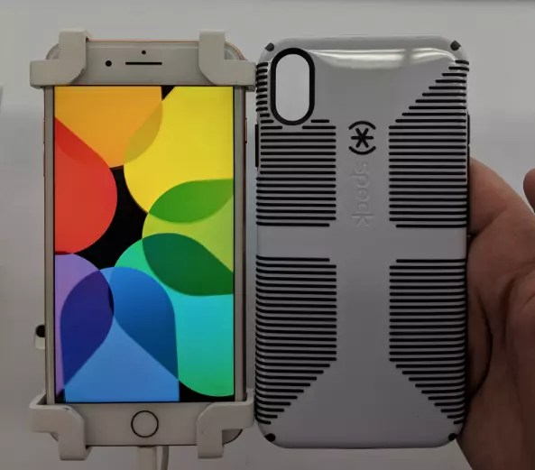 iPhone 8 Plus vs carcasa del iPhone Xs Max