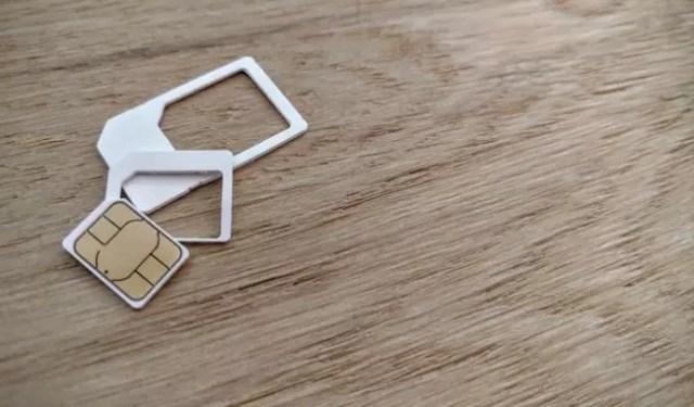 Evolución d tamaños de la tarjeta SIM