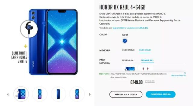 Precio del Honor 8X en España