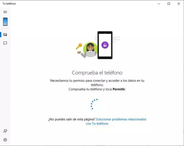 Paso para otorgar permisos de la app Tu Teléfono