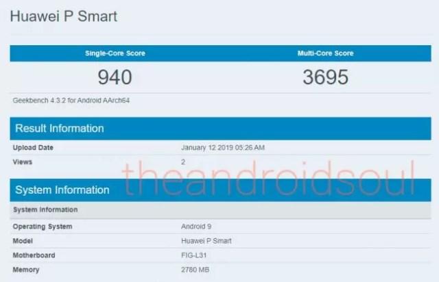 Android 9 Pie para el Huawei℗ P Smart