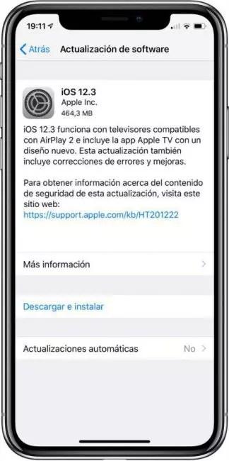 iOS 12.3