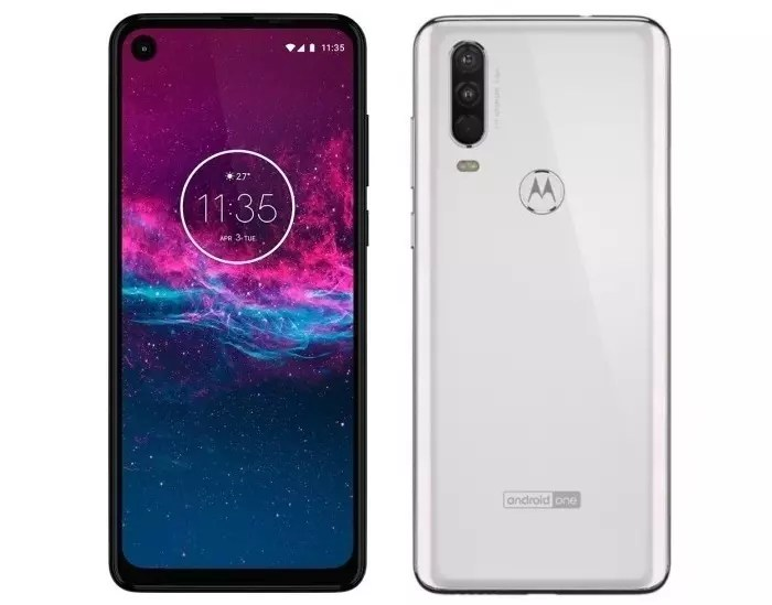 Motorola One Action frontal y trasera