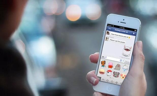 Usando Messenger en iPhone 7