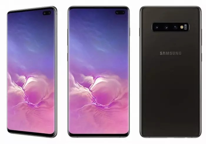Frontal y trasera del Samsung Galaxy S10 Plus