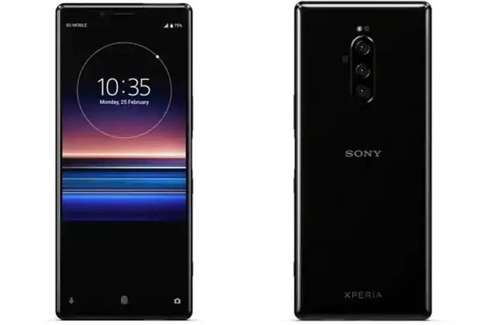Frontal y trasera del Sony Xperia 1