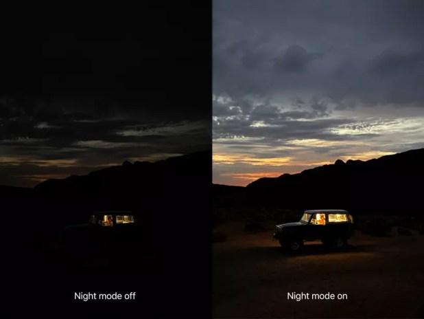 iPhone 11 modo noche