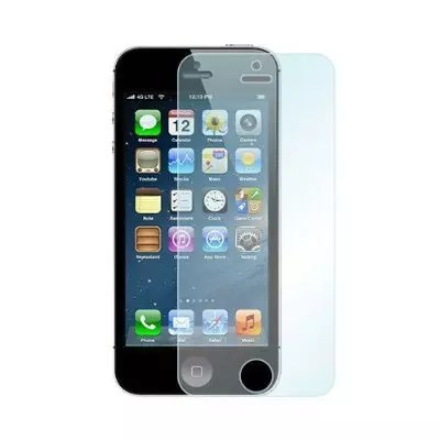 iPhone 5 frontal negro con funda transparente