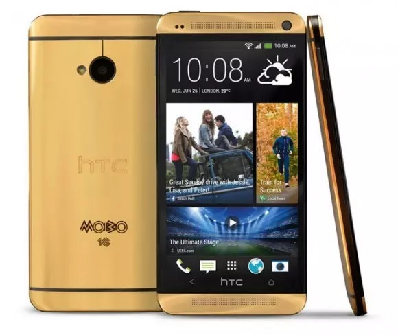 HTC One Gold para el Festival MOBO.