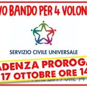 Nuovo bando di Servizio Civile Universale – scadenza prorogata al 17/10/2019