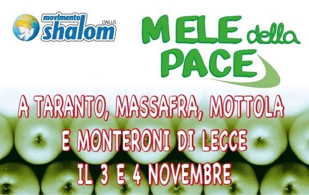 Mele della Pace in Puglia il 3 e 4 novembre