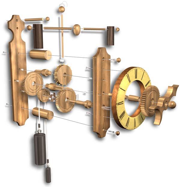 Wooden Gear Clock Kits Canada Trammel414