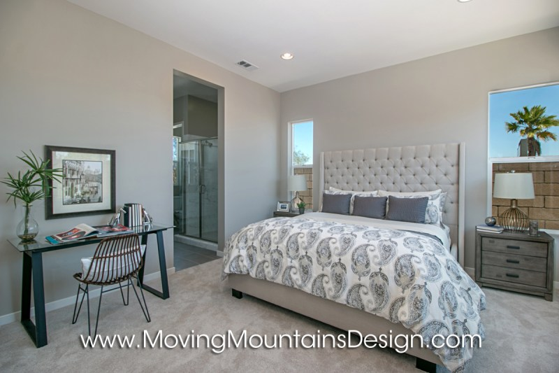 Home staging bedrooms photos Model home master bedroom decor