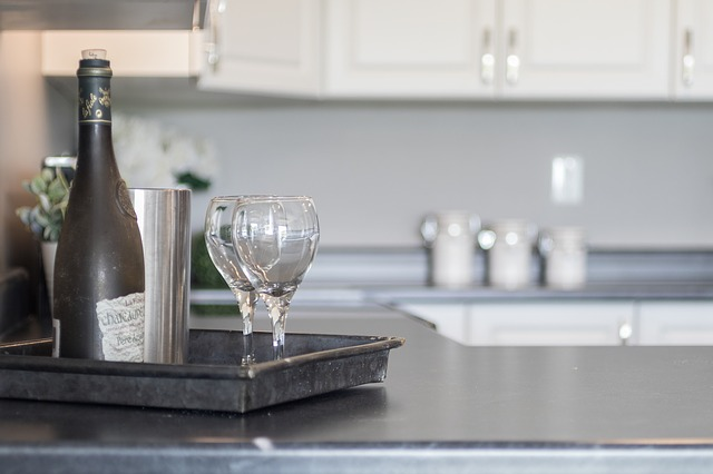Home staging in the kitchen area.