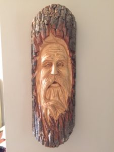 wood spirit by Jerri Stracener