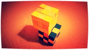 De kubus is de wereld in 't klein