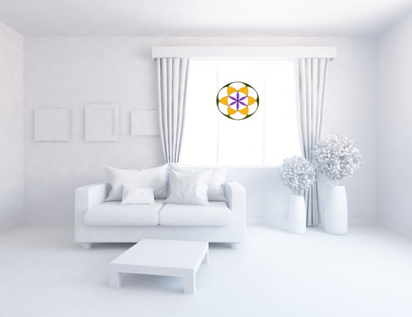 semilla de la vida en decorado blanco
