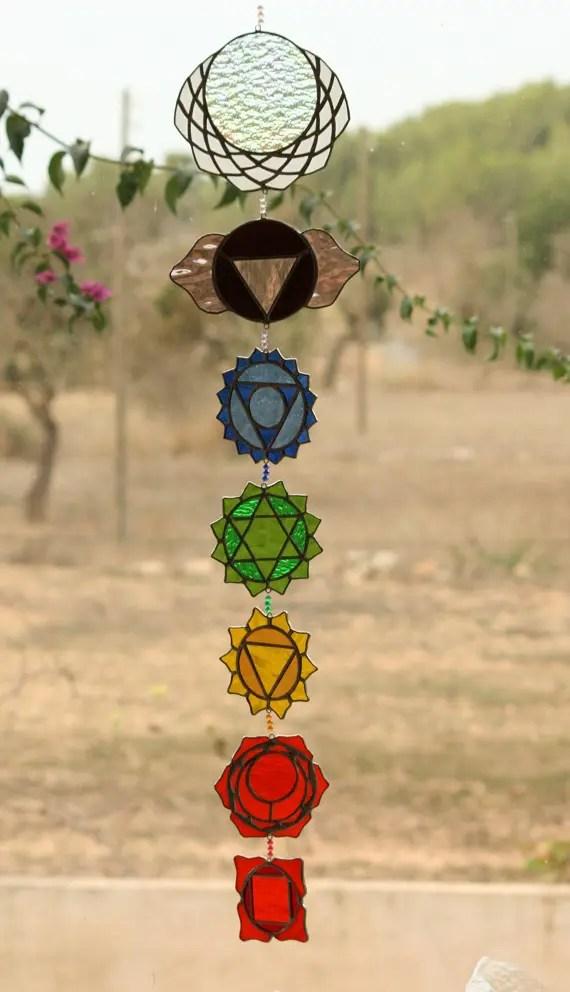 vidriera de los 7 Chakras