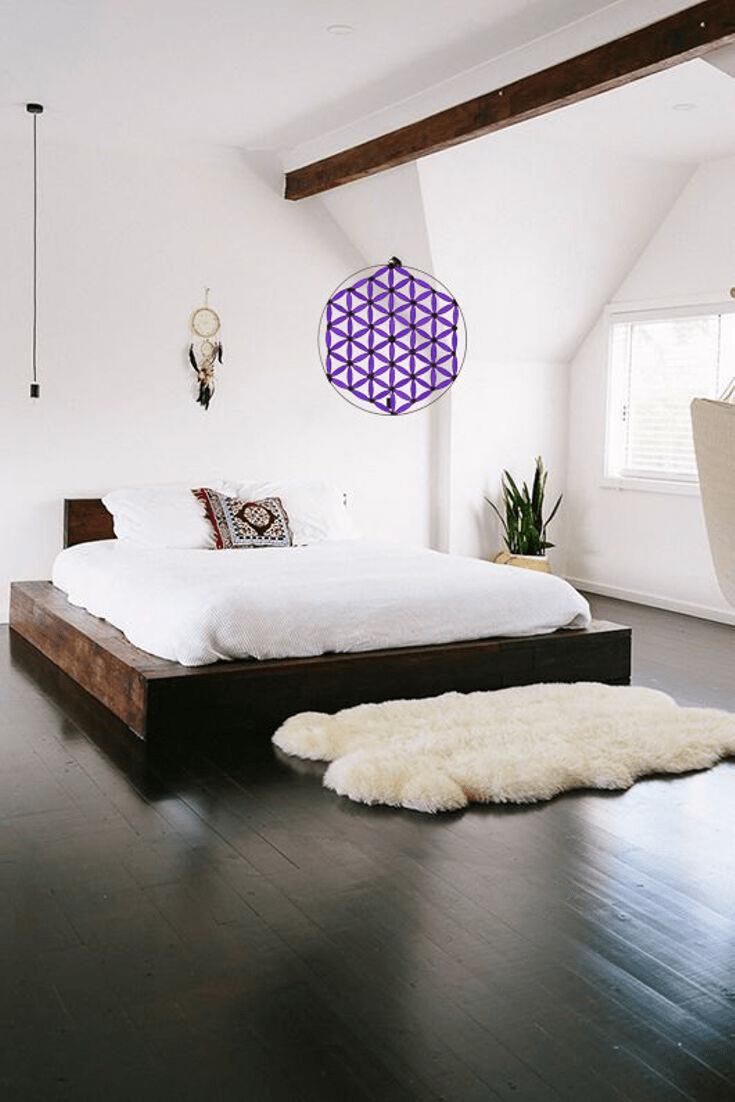 Flor de la vida armonizando una habitacion