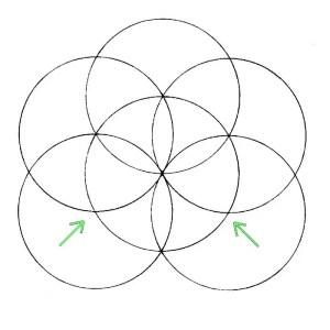 como dibujar la flor de la vida