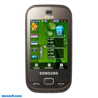 Samsung B5722 Dark Brown Double Sim