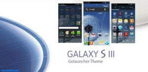 Galaxy S3 GO Launcher EX Theme