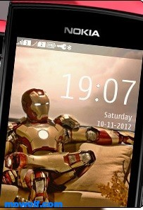 IronMan-theme-for-Nokia-Asha305-Asha306-Asha311-