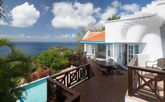Villa deck balcony view