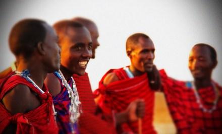 Locals in Lake Manyara