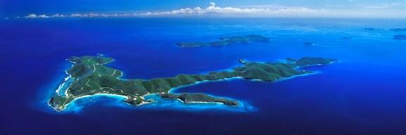 Island aerial photo